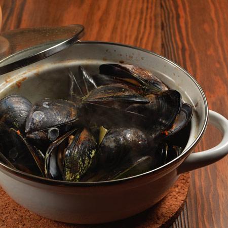 ムール貝ワイン蒸し(大盛り)